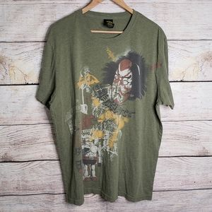 Lucky Brand green classic fit graphic short sleeve
